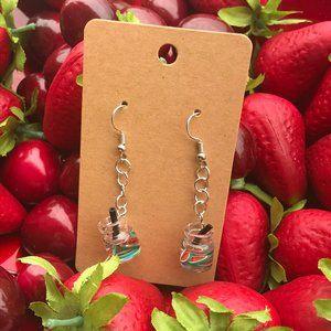 Watermelon Sangria Earrings- Daiquiri Dangles